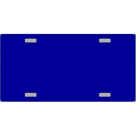 Navy Blue Solid Flat Automotive License Plates Blanks for Customizing Blue Airbrushed License Plates