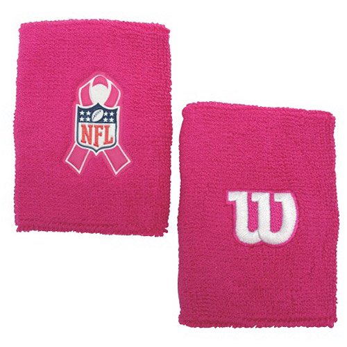 "Wilson 4"" Pink Wristband with NFL BCA Logo"