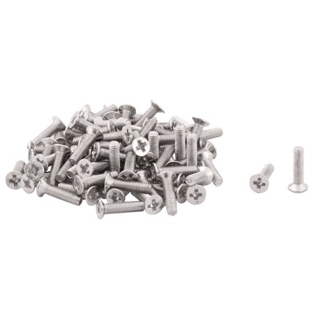 Dorm Cafe Stainless Steel Furniture Cabinet Bed Hardware Machine Bolts 80 Pcs
