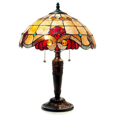Chloe Lighting Tiffany Style Victorian Design 2-light Bronze Table Lamp Victorian Tiffany Animals
