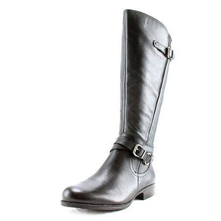 Womens Javana Leather Almond Toe Knee High Fashion Boots