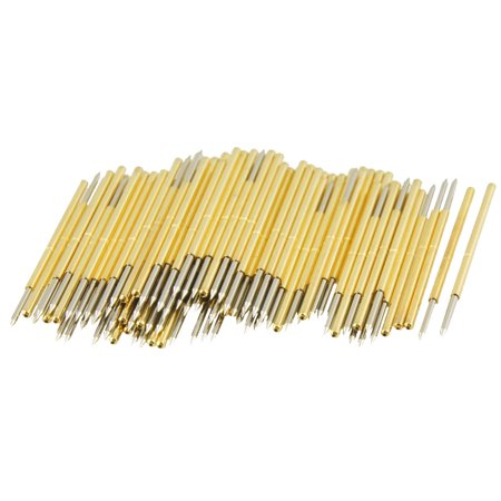 100 Pieces 30 Degree Spear Tip Spring Test Probes Pins 34Mm Length