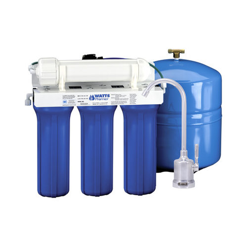 Bundle-67 Watts Premier Five Stage EPA/ETV Verified Reverse Osmosis System with Monitor Faucet (5 Pieces)