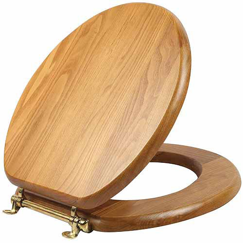 Design House 561241 Dalton Round Toilet Seat, Honey Oak Finish