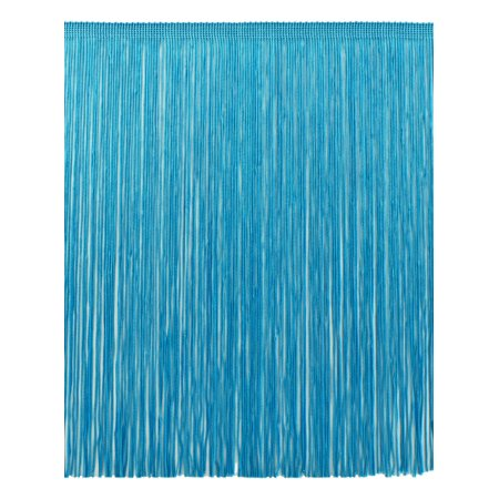 12 Inch Chainette Fringe Trim, Style# CF12 Color: Turquoise - 04, Sold By the Yard
