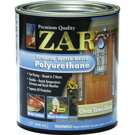 Zar water based exterior polyurethane for Zar exterior water based polyurethane