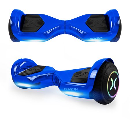 Hover-1 Allstar UL Certified Electric Hoverboard w/ 6.5in LED Wheels, LED Sensor Lights; Lithium-ion 14 Cell Battery; Ideal for Boys and Girls 8+ and Less Than 220 lbs - Blue