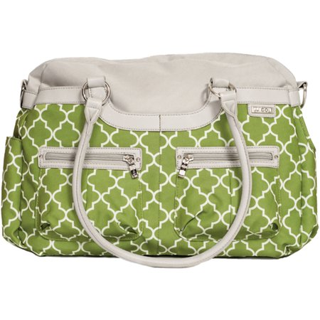 JJ Cole Satchel Diaper Bag, Green Arbor