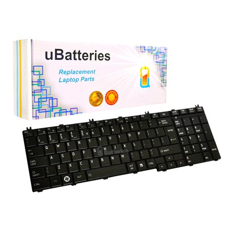 Toshiba Laptop Keyboard Keys (UBatteries Laptop Replacement Keyboard Toshiba Satellite NSK-TN0SV 01 (Black, Big Enter)