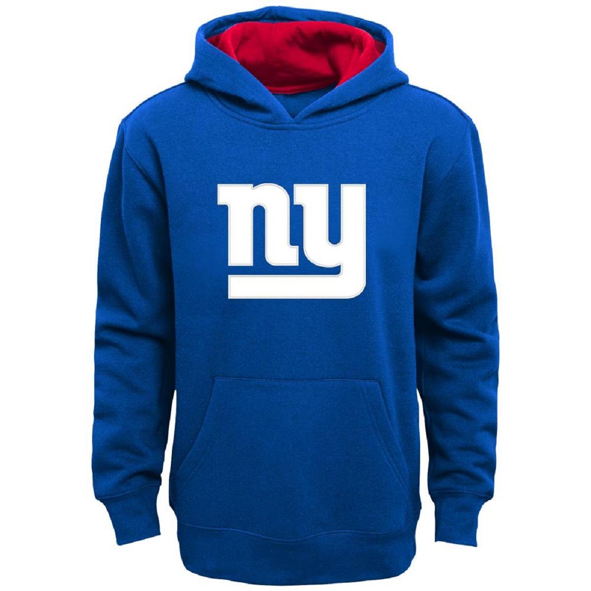 New York Giants Blue Youth Primary Hooded Sweatshirt Hoody (Youth L)