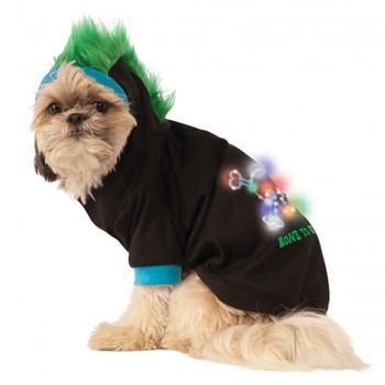 Dog Mohawk (LED Halloween Mohawk Dog Hoodie)