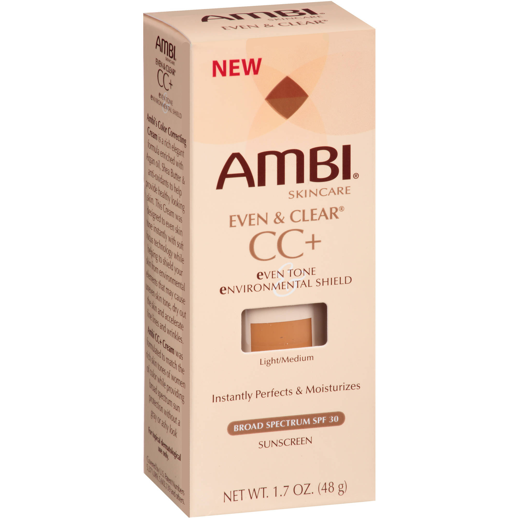 Ambi Even & Clear CC+ Light/Medium Sunscreen, SPF 30, 1.7 oz