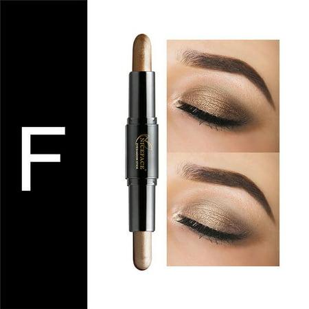 Topcobe Powder Eyeshadow for Makeup, TCWQ223 Beauty Highlighter Eyeshadow Pencil, Cosmetic Glitter Eye Shadow Eyeliner Pen for Women - Eye Colour 2g Powder