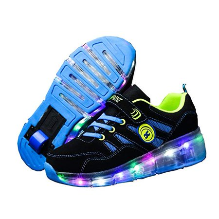 Ufatansy CPS LED Fashion Sneakers Kids Girls Boys Light Up Wheels Skate Shoes Comfortable Mesh Surface Roller Shoes Thanksgiving Christmas Day Best