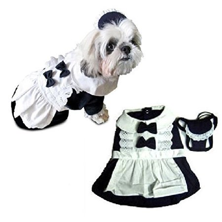 Dog Costume - FRENCH MAID COSTUMES - Dress Your Dogs As Maids for $<!---->