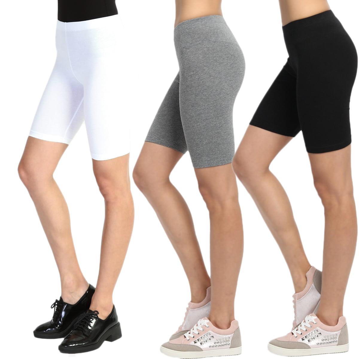 WOMEN/'S Short Leggings Cropped Cotton Active Sports Fitness Run Bike OVER-KNEE*
