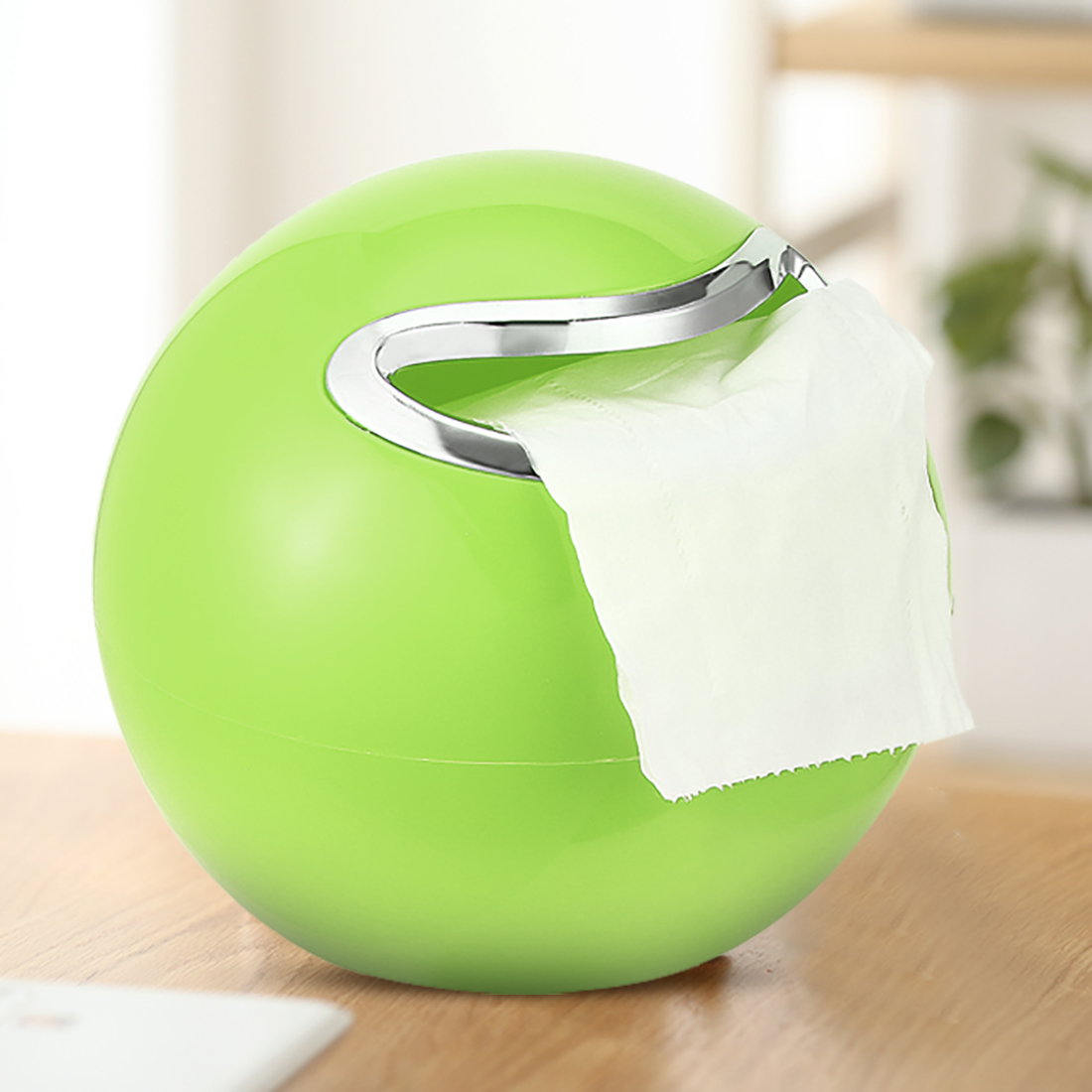 Unique Bargains 180mm Dia ABS Plastic Green Dual-Purpose Round Toilet Roll Paper Holder - image 5 of 7
