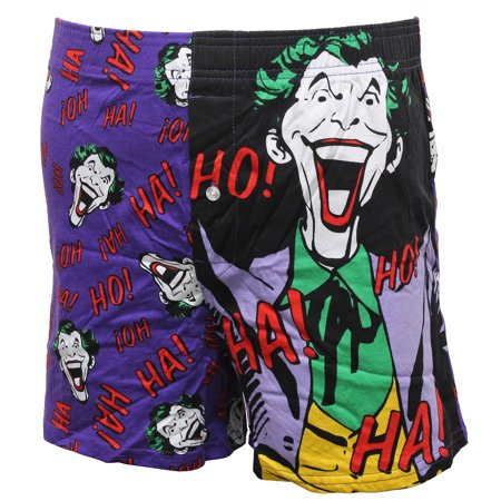 Bioworld Batman Joker Vintage Classic Retro Character Ha! HA! Mens Boxer Briefs Shorts Boxers