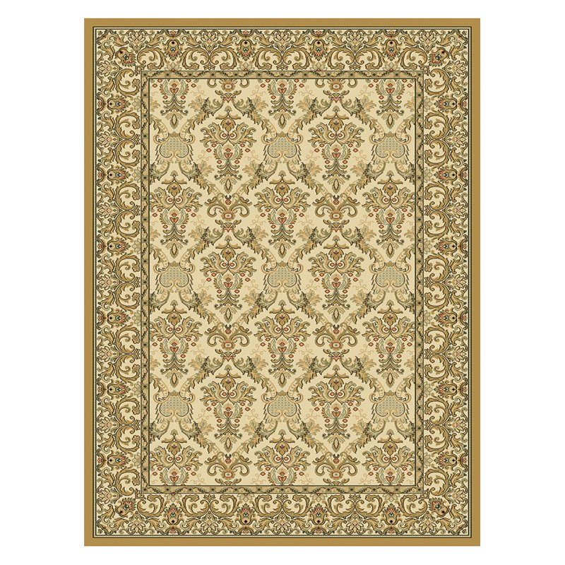 Central Oriental Radiance Elegant Area Rug - Wheat