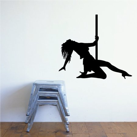 Pole Dancer Kneeling Decal - 36 Inches