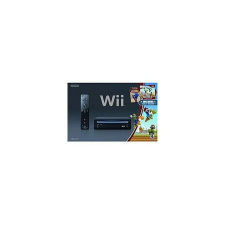 Refurbished Black Wii Console With New Super Mario Brothers - Super Products New Berlin Wi