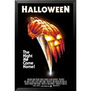 buyartforless FRAMED John Carpenters Halloween (1978) 36x24 Classic Horror Movie Art Print Poster The Night He Came Home! (John Carpenter Halloween 2 Theme)