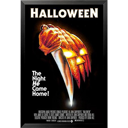 buyartforless FRAMED John Carpenters Halloween (1978) 36x24 Classic Horror Movie Art Print Poster The Night He Came Home! - Halloween Opening Theme 1978