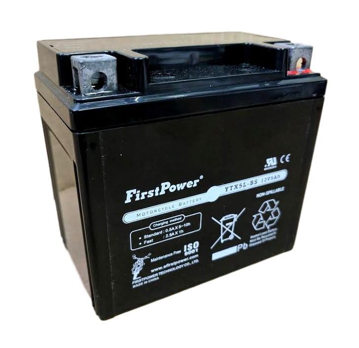 FirstPower (1) YTX5L-BS for Honda CRF150 EZ90 Cob Motorcycle Battery