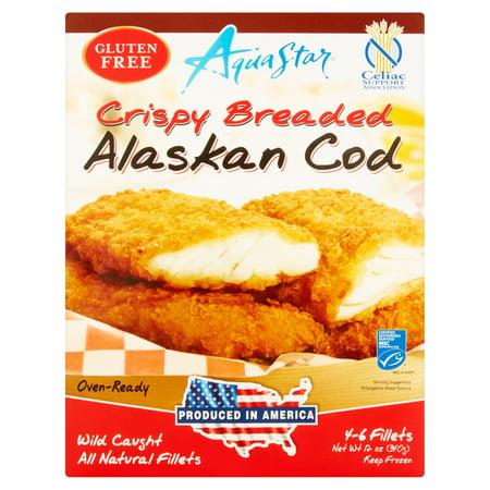 Aqua star crispy breaded alaskan cod fillets 12 oz for Cod fish walmart