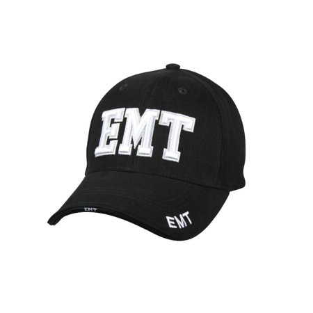 Black Deluxe Low Profile Baseball Cap - EMT