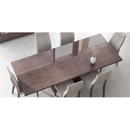 Esf Prestige High Gloss Wenge Lacquer Dining Table W Extension Made In Italy