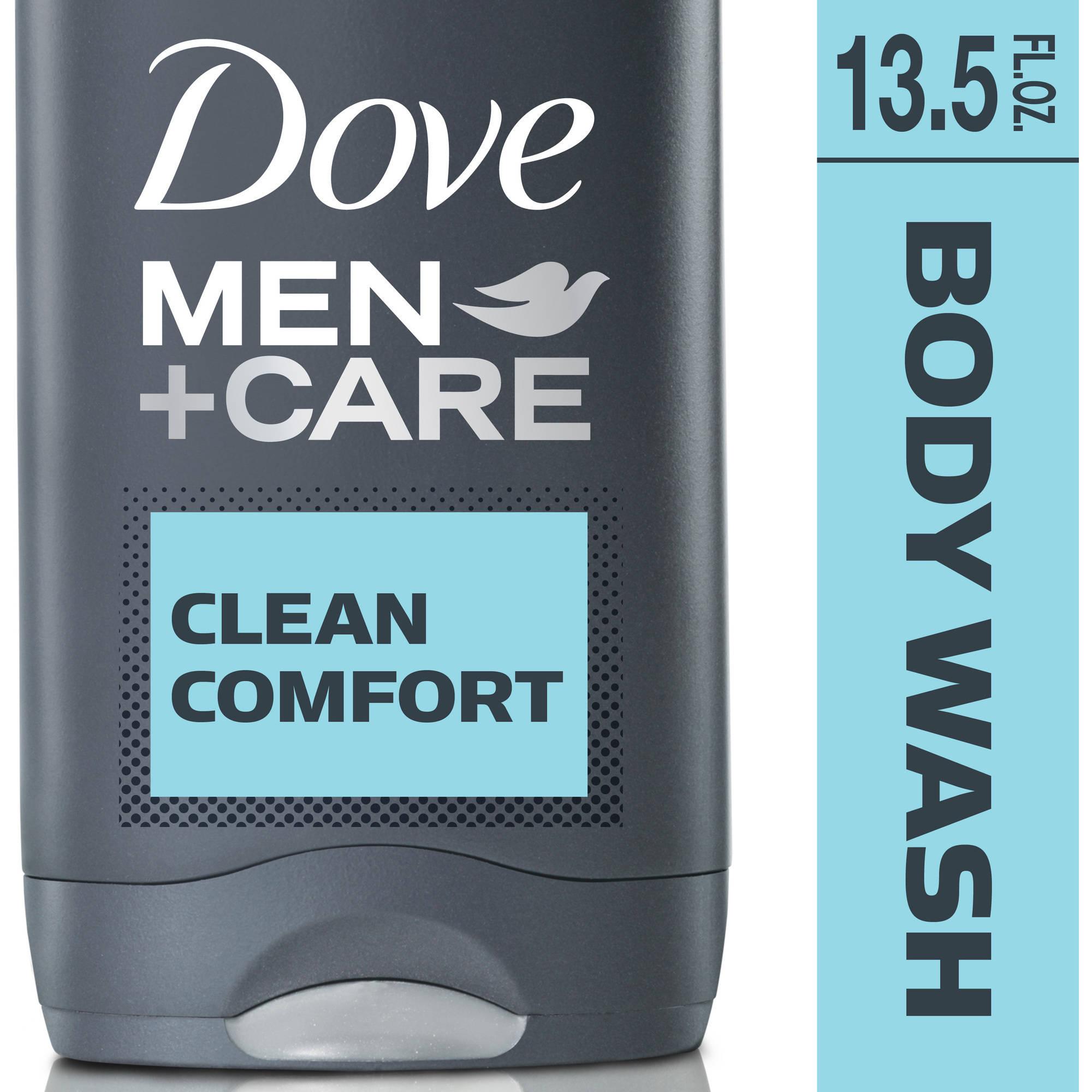 Dove Men+Care Clean Comfort Body and Face Wash, 13.5 fl oz