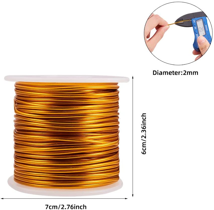 Pandahall 60 Feet Tarnish Resistant Copper Wire 22 Gauge Jewelry Beading Craft Wire for Jewelry Making Black