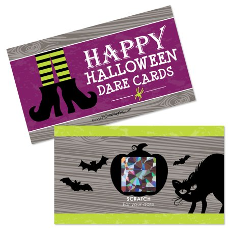 Happy Halloween - Witch Party Game Scratch Off Dare Cards - 22 Count (Halloween Puppy Games)