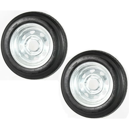 Galvanized Spoked Rim (2-Pack Kenda Trailer Tire On Rim 480-12 4.80-12 LRC 5 Lug Galvanized Spoke)