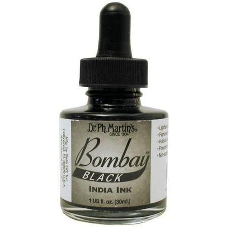 Dr. Ph. Martin's Bombay India Ink, 1.0 oz, Black (7BY)