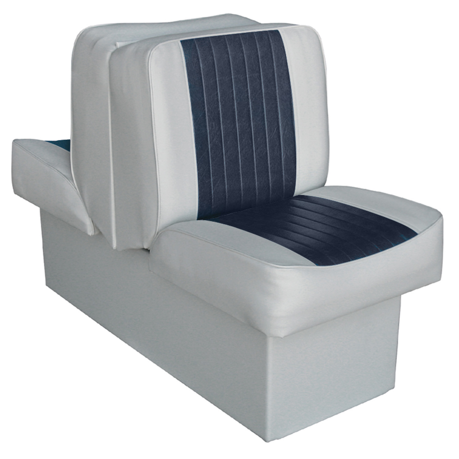 Wise 8WD707P-1-660 Deluxe Series Lounge Seat, Grey-Navy