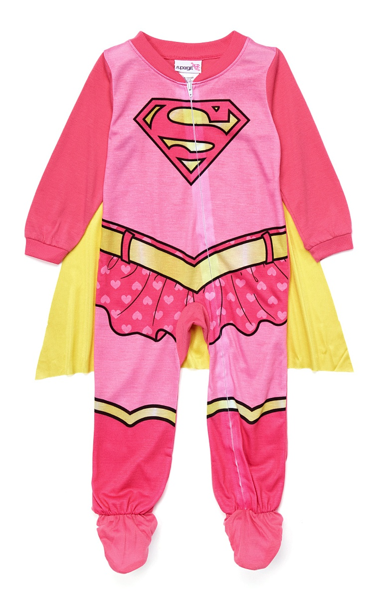 Supergirl Toddlers Footed Pajama Costume Pink w/ Cape One Piece 4T - Walmart.com  sc 1 st  Walmart & Supergirl Toddlers Footed Pajama Costume Pink w/ Cape One Piece 4T ...
