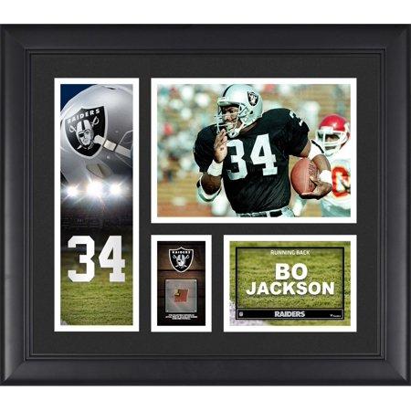 Oakland Raiders Nfl Hand Signed - Bo Jackson Oakland Raiders Framed 15