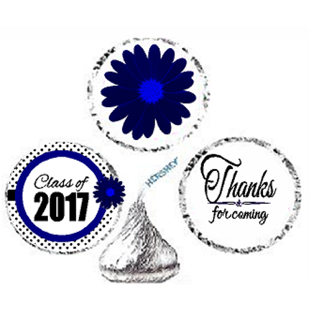216ct Navy Class Of 2017 Party Favor Hersheys Kisses Candy Decoration Stickers / Labels (Halloween Parties In Atlanta 2017)