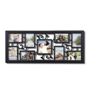 Adeco Trading 9 Opening Decorative Filigree Wall Hanging Collage Picture Frame