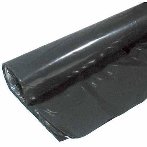 Poly-america 4 mL Tyco Polyethylene Black Plastic Sheeting, 8' x 100'
