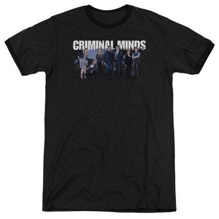 Criminal Minds Season 10 Cast Mens Adult Heather Ringer Shirt ()