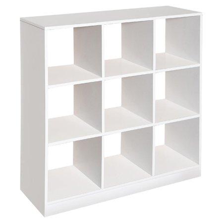 Badger Basket 9 Cubby Storage Unit White