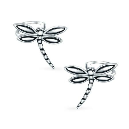 Butterfly Dragonfly Cartilage Ear Cuffs Clip Wrap Helix Non Pierced Earrings For Women Teen 925 Sterling Silver