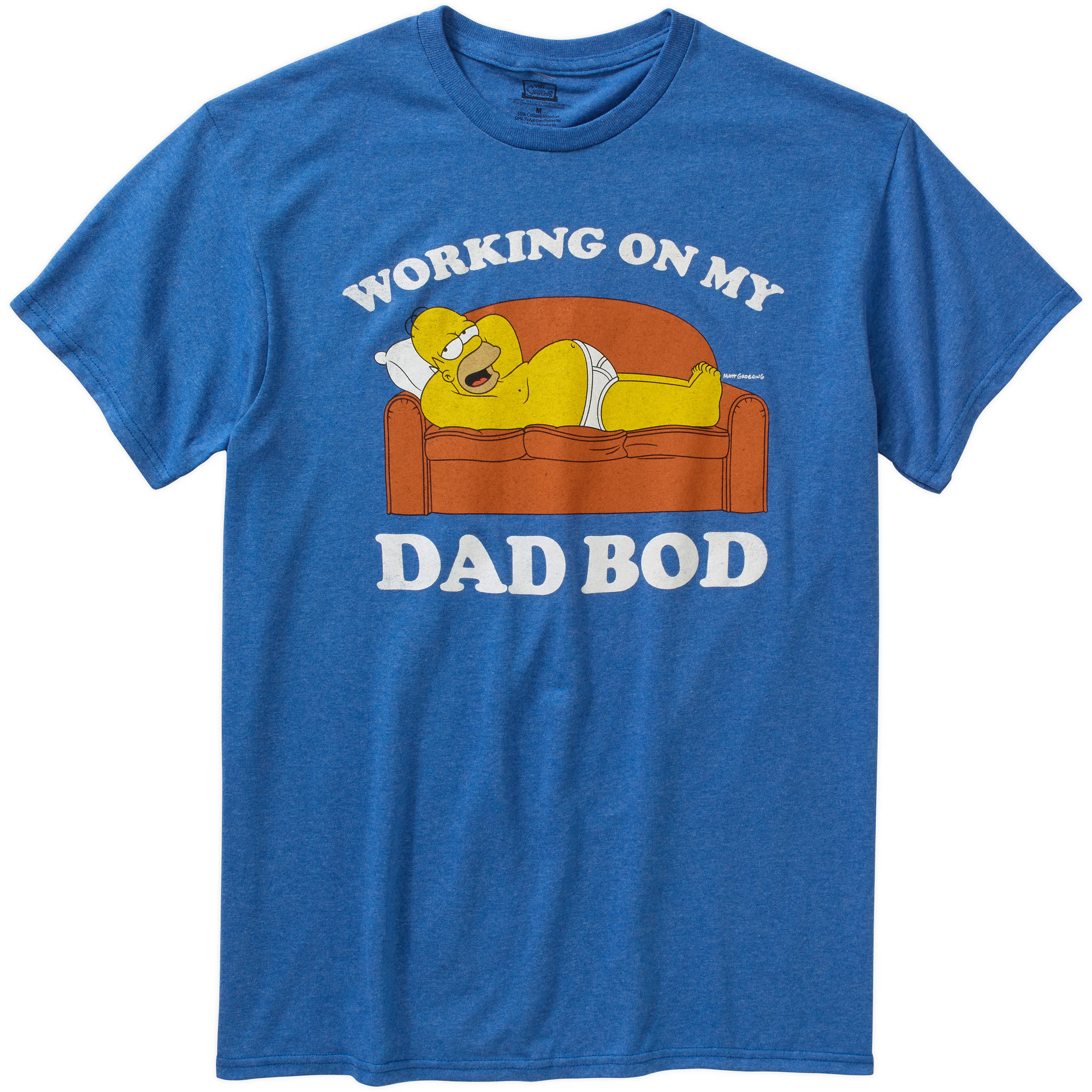 Homer Simpson Working On Dad Bod Men's Graphic Tee