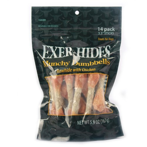 "Exer-Hides 3.5"" Munchy/Chicken Dumbbells, 14pk"