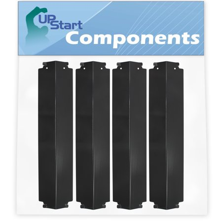 4-Pack BBQ Grill Heat Shield Plate Tent Replacement Parts for Charbroil 463272108 - Compatible Barbeque Porcelain Steel Flame Tamer, Guard, Deflector, Flavorizer Bar, Vaporizer Bar, Burner Cover 16