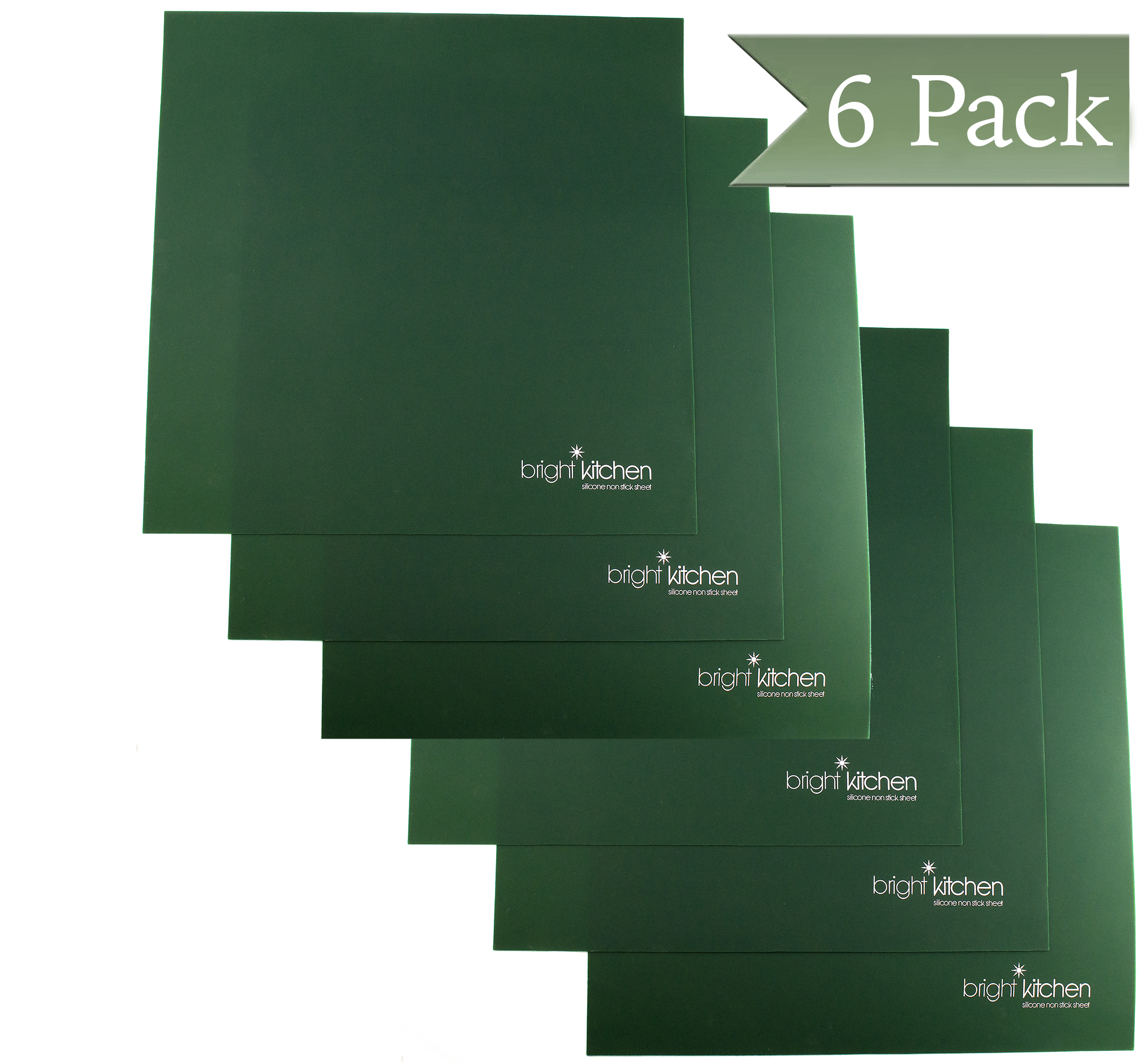 """Set of 6 - 14"""" x 14"""" Silicone Sheets for Excalibur Dehydrator Bright Kitchen Re-Usable Non-Stick Ma"""