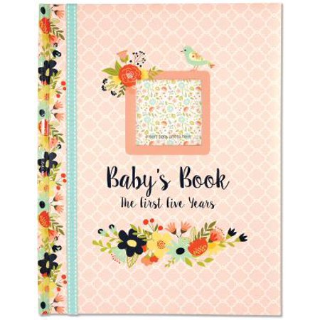 Baby's Book : The First Five Years (Floral Design) - New Year Crafts